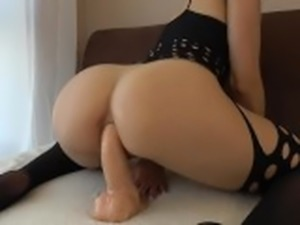 Teen With Tight Anal Tries Huge Dildo First Time With Orgasm