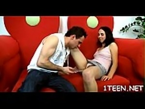 Oral stimulation session with hot hunk