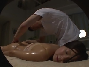 Japanese oiled up chick ravished by a horny stallion