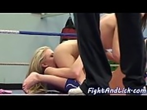 Lesbo babes wrestling and seducing pussies