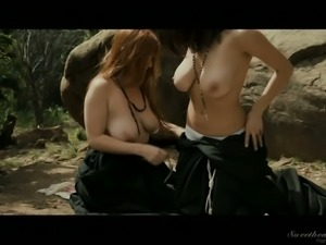 Amazing Penny Pax just finds it pleasant to please hot lesbo outdoors
