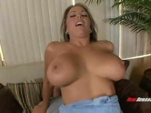 Busty woman makes her man happy with holes