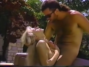 Gorgeous and sultry blondie with big breasts loves passionate sex with a stud