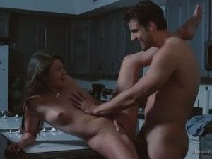 Adria Rae actually likes kitchen sex and she loves missionary position