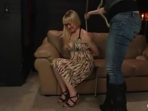 Casting for BDSM with a kinky doll Claire Adams
