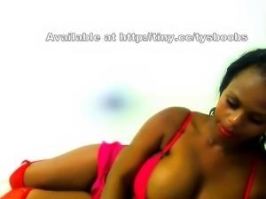 French Ebony BBW with Big Boobs