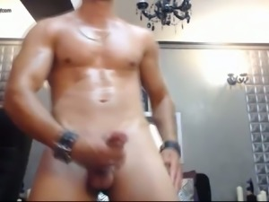 I get aroused by watching muscular men masturbate for me on webcam