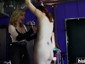 Beautiful lesbians enjoy some BDSM pleasures