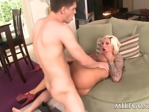 Big titty Lolly Ink takes on a big dick