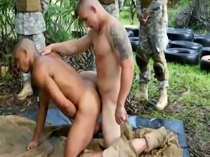 Thai military male nude gay first time Jungle screw fest