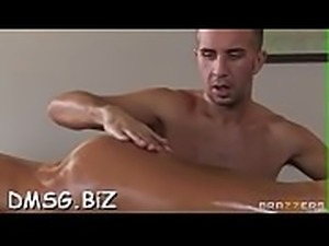 Erotic oiled body massage