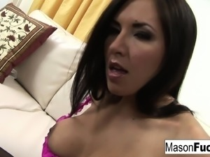 Mason and the sexy Zoe dress in lingerie and have some hot