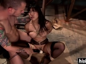 Submissive little Asian chick is dominated