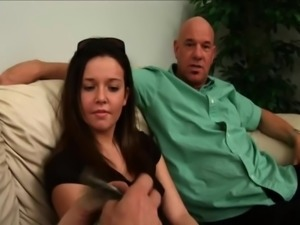 Old The old man fucks a hot brunette for money