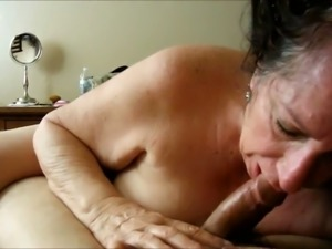 Ugly awful and quite used amateur mature whore sucked friend's tool