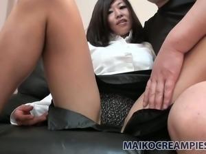 Oriental hoe Kayoko Ikehata loves it when her lover plays with her nipples