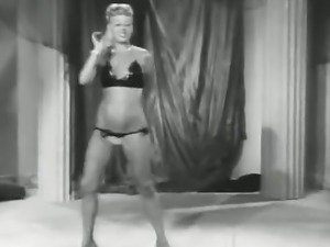 Blonde Dancer Shows off Her Curves (1950s Vintage)