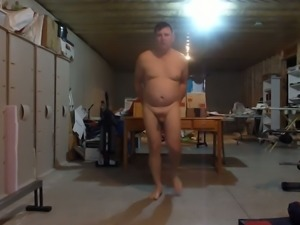 This dude loves walking around the house naked and spreading his butt cheeks