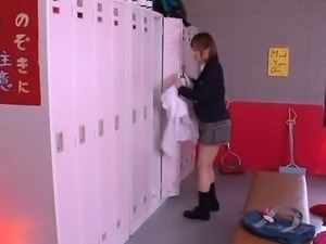 Girl gets so mischievous within the lockerroom alone