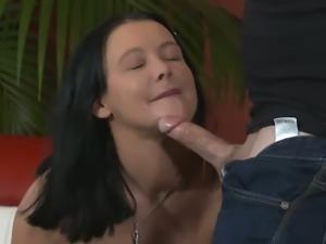 Sexy babe in lacy lingerie Anna Von Freienwalde gets her twat poked