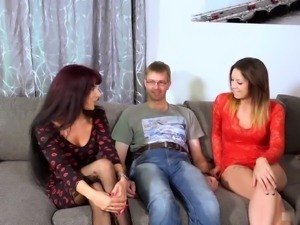 Natalie Hot and Samy Saint team up to give this nerd the ride