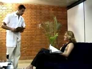 Lewd blonde Aretha gives a blowjob to an Indian dude and rides his rod