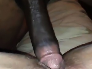 Extreme close up anal interracial couple