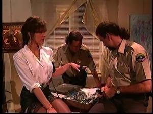 Sheriff with big cock blasting Debi Diamond tight anal hardcore