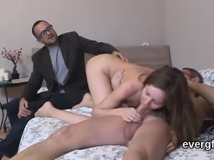 Dirt poor fella allows wacky buddy to fuck his ex-girlfriend