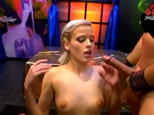 Eveline Dellai and Rhia Sunn have a blast making dicks rock hard