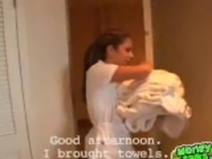 Maid gets paid to fuck