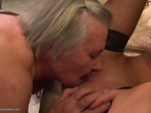 Granny Emanuelle seduced by pussy craving maid Mairi