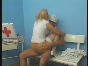 This hot nurse has a dirty mind and she loves her doctor's cock so much
