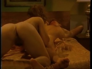 Horny wife spreads her legs to make her man's cock stiff