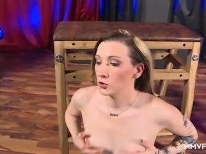 Incredibly whorish bitch Kyra Night gives blowjobs and gets nailed