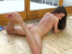 Anita S in panties fingering her pussy deeply lovely