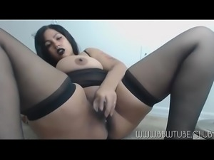 BBW Emo Gothic Playing For Cam - Live BBW Cams: http://bit.ly/BBWCAMS