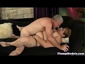 Pussyfingered chubby lady gets doggystyled
