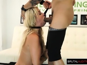 Blonde gets a Hardcore Audition