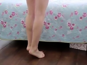 Thin Erotic girl in reality smut video
