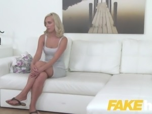 Fake Agent Cute blonde model loves being fucked doggystyle