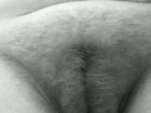 Black and white video of lusty amateur ex-wife teasing her big clit