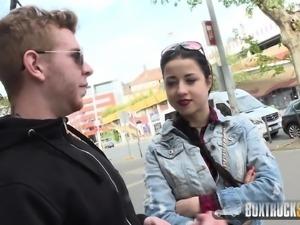 Amazing Taissia sucks in Public