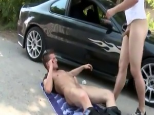 Outdoor male group wank gay xxx he is dying to make some