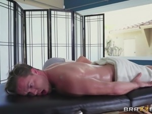 busty masseuse can suck and rub