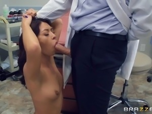horny newcomer kara faux gets her throat attacked