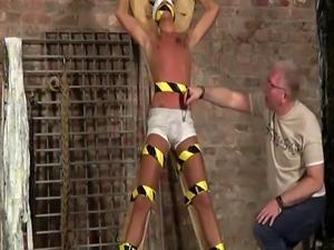 Cute gay nude bondage New victim boy Kenzie had no idea this is what w