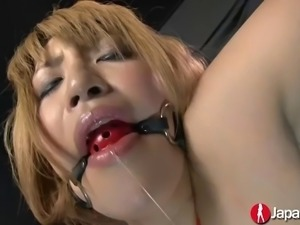 japanese amazon chick hatsuka is tied up and fingered to climax