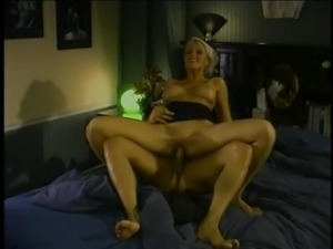 Natural big tits babe having her pussy fingered then hammered