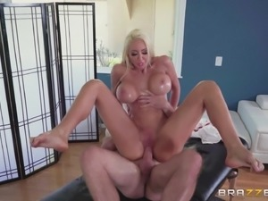 Nasty blonde Nicolette Shea wants to be fucked hard by a hunk
